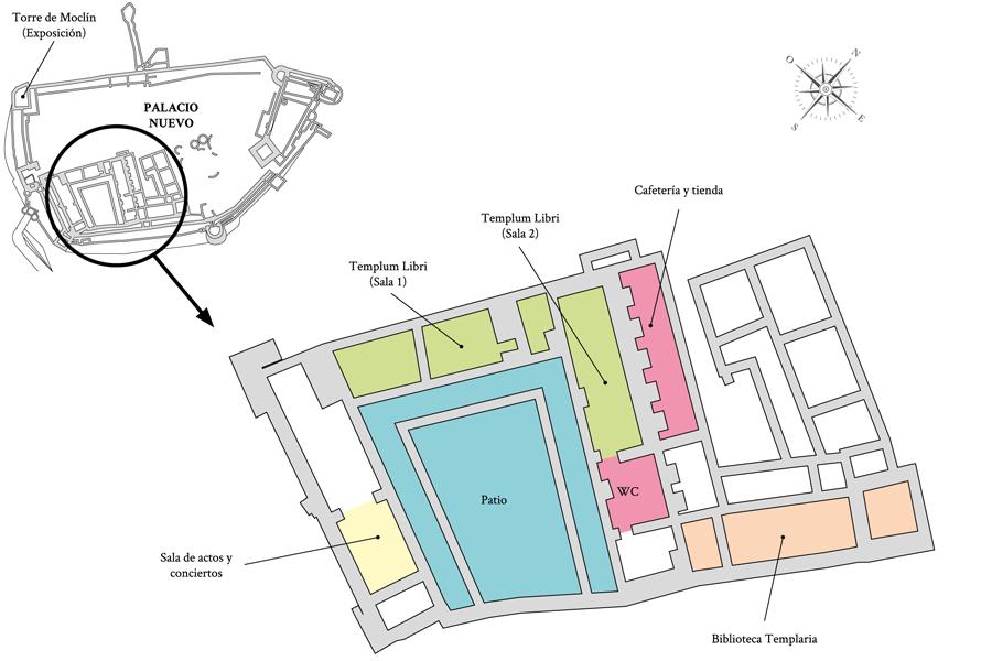 Salas expositivas y activas del Castillo de los Templarios