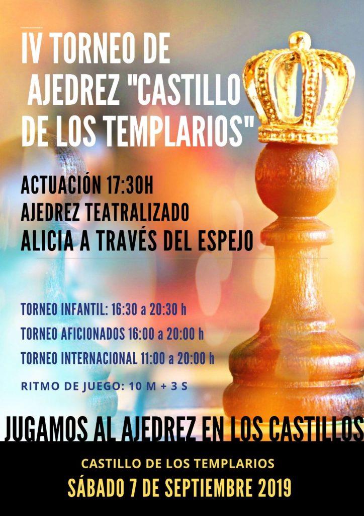 Cartel torneo de ajedrez Castillo de los Templarios