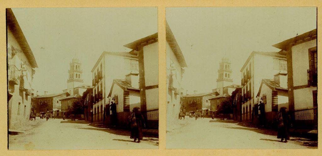 Vista de la calle de La Fortaleza (actualmente calle de Gil y Carrasco), en Ponferrada.